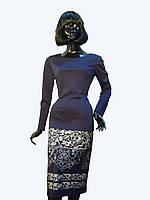 Платье-костюм синее с купоном Арт.1091
