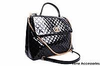 Элегантная лаковая сумочка Bonilarti Oalengi цвет черный, эко-лак