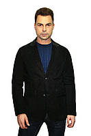 Пиджак темно-коричневый из натуральной замши, фото 1
