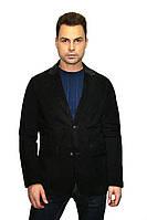 Пиджак темно-коричневый из натуральной замши
