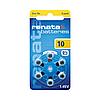 Батарейки ZA-10 (PR70) Renata (6шт.)