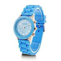 Модные стильные женские часы GENEVA Luxury ,голубые