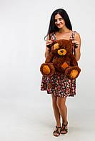 Большой плюшевый мишка медведь Тэдди 50см шоколад