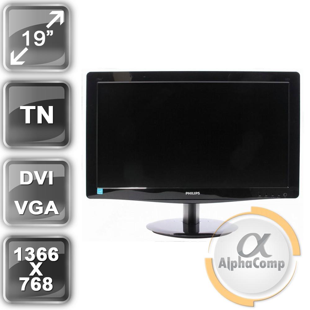 """Монитор 19"""" Philips 196V3LSB2/01 (16:9/VGA/DVI) class A БУ"""