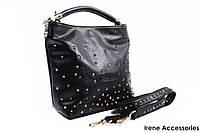 Модная женская сумочка Bonilarti Oalengi с заклепками цвет черный, эко-кожа