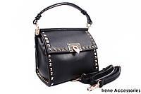 Модная квадратная сумочка Bonilarti Oalengi с заклепками цвет черный, эко-кожа