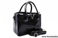 Стильная маленькая сумочка Valentino цвет черный, эко-лак