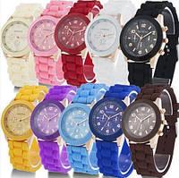 Модные женские силиконовые часы GENEVA Luxury 13 цветов