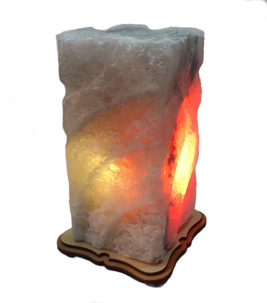 Соляной светильник Прямоугольник резной большой