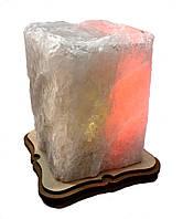 Соляной светильник Прямоугольник резной