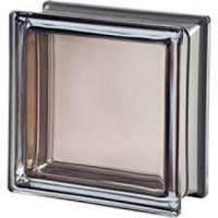 Стеклоблок гладкий цветной яркий  Brilly 19х19х8см/C Bronze