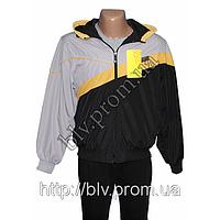 Мужской черный спортивный костюм плащевка  FHY11201N
