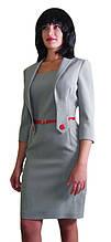 Платье-костюм светло-серое Арт.876 р.42,46,48,50