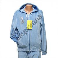 Женский велюровый спортивный костюм в интернет магазине недорого баталы FJS1238NG