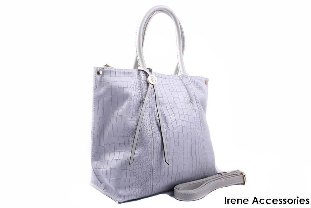 Элегантная женская сумочка Bonilarti Oalengi цвет светло-серый, эко-кожа