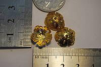 Обниматель для бусин золото шапочка цветок