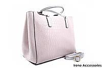 Элегантная летняя сумочка Bonilarti Oalengi с косметичкой цвет светло-серый, эко-кожа