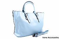 Элегантная летняя сумочка Bonilarti Oalengi с косметичкой цвет голубой, эко-кожа