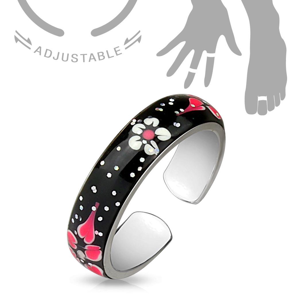 Безразмерное кольцо с цветами