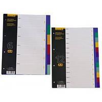 Разделители цветовые А4 6 отделений SOZ-5003
