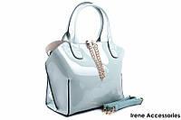 Элегантная летняя сумочка Bonilarti Oalengi с косметичкой цвет голубой, эко-лак
