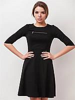 Женское платье с декоративной змейкой, юбкой солнце 90151, фото 1