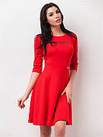Женское платье с декоративной змейкой, юбкой солнце 90151/1 46
