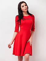 Женское платье с декоративной змейкой, юбкой солнце 90151/1 48