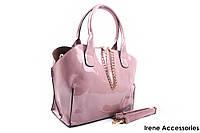 Модельная летняя сумочка Bonilarti Oalengi с косметичкой цвет розовый, эко-лак