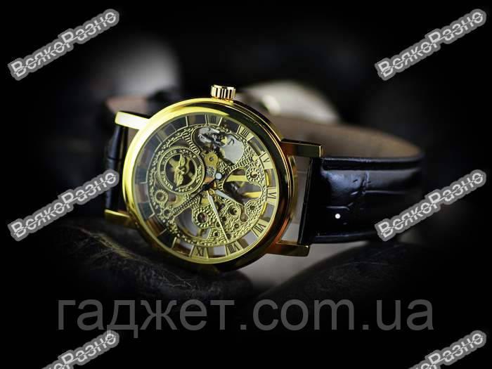 Часы женские механические WINNER GOLD SKELETON