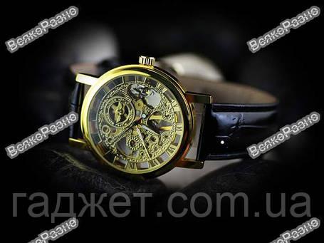 Часы женские механические WINNER GOLD SKELETON, фото 2