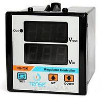 Вольтметр электронный ТЕНСЕ 2 значения щитовой 72х72 мм цена переменного шкаф вольтметри електронн, фото 1