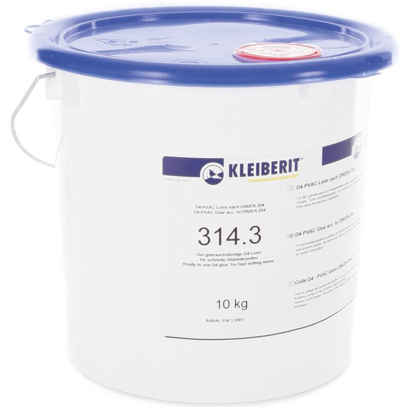 Клейберит 314.3 однокомпонентный столярный ПВА клей D4 для наружных изделий (ведро 10 кг)