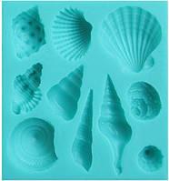 Ракушки морские ассорти -кондитерский молд для мастики и шоколада