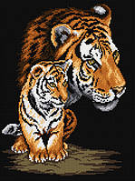 "Набор для рисования камнями (холст) ""Тигрица и тигренок"" LasKo"