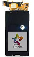 Дисплей (Модуль) для мобильного телефона Motorola XT1080 Droid Ultra, черный, с сенсорным экраном