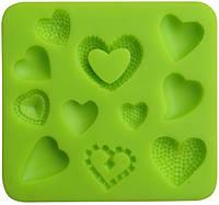Сердечки -кондитерский молд для мастики и шоколада