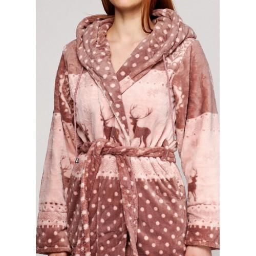 8a9152d97541c Женский махровый халат короткий-Олени, цена 946 грн., купить в ...