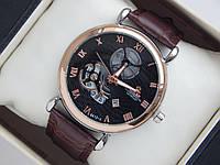 Мужские (Женские) кварцевые наручные часы скелетоны Rolex черный циферблат, фото 1