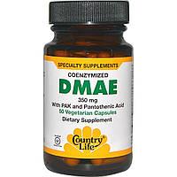ДМАЭ (диметиламиноэтанол), Country Life, 350 мг, 50 капсул