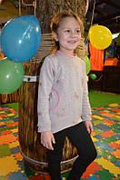 Детская теплая модная туника для девочки на меху на осень, фото 1