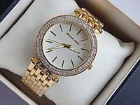 Женские кварцевые наручные часы Michael Kors с двумя рядами страз, фото 1