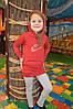 Яркие детские спортивные костюмы для девочки на весну туника и лосины от производителя