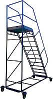 Лестница складская передвижная стальная. Высота 2000 мм