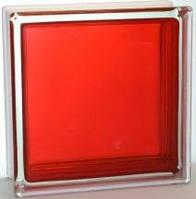 Стеклоблок гладкий цветной яркий Brilly 19х19х8см/C Rose