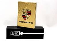 Электроимпульсная USB зажигалка  Porsche.