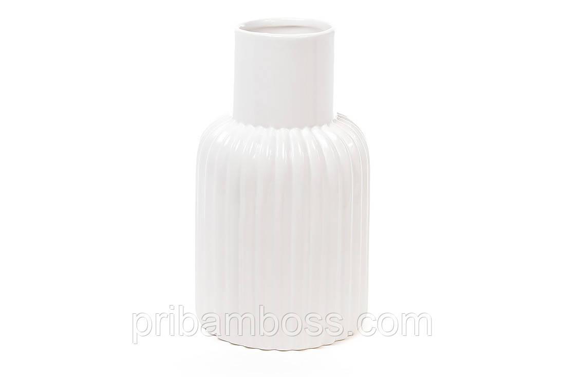 Керамическая ваза 24см, цвет белый
