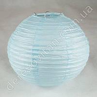 Бумажный подвесной фонарик, светло-голубой, 35 см