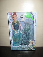 Детская  шарнирная кукла Frozen  Анна с платьем ( одеждой )