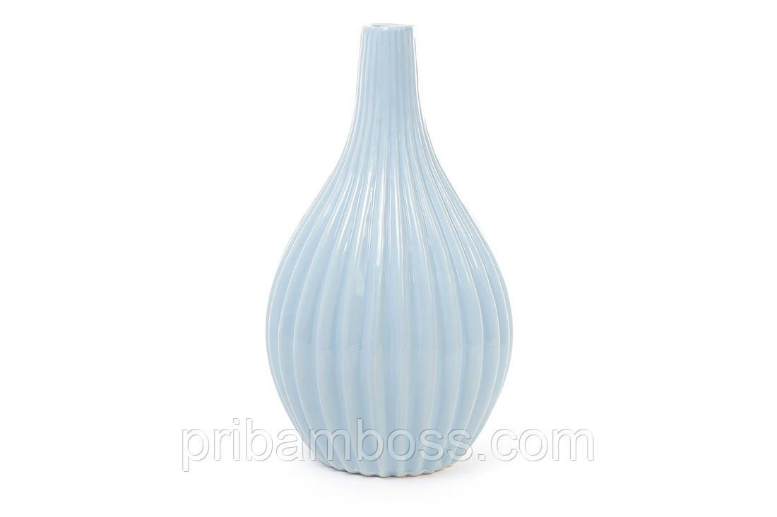 Керамическая ваза 24.3см, цвет голубой